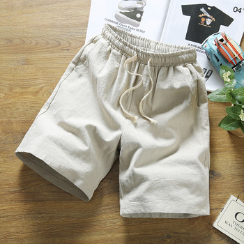 Free shipping men's summer shorts plus size casual Linen shorts male Chinese style Knee Length short trousers hip hop for 150kg