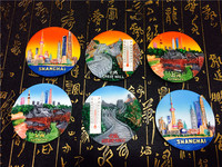 6pcs/set China City Shanghai Beijing Great Wall Fridge Magnet World Travel Tourism Souvenir Crafts