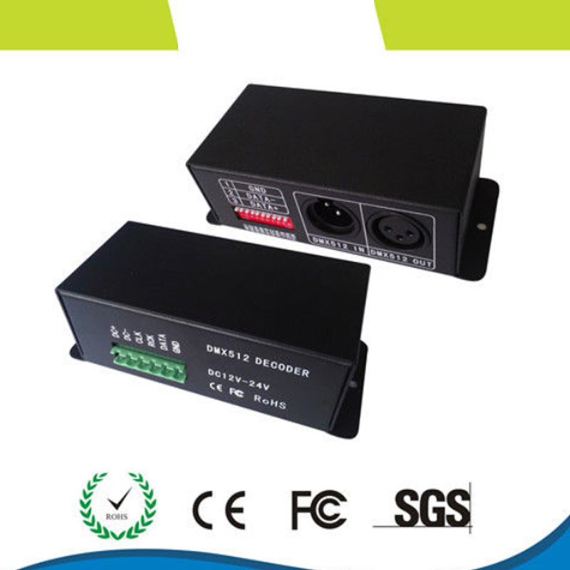 DMX512 Signal Decoder LED IC signal decoder WS2811,TM1804,TM1809,TM1812 driving IC,DC5V-24V input DMX Decoder цена