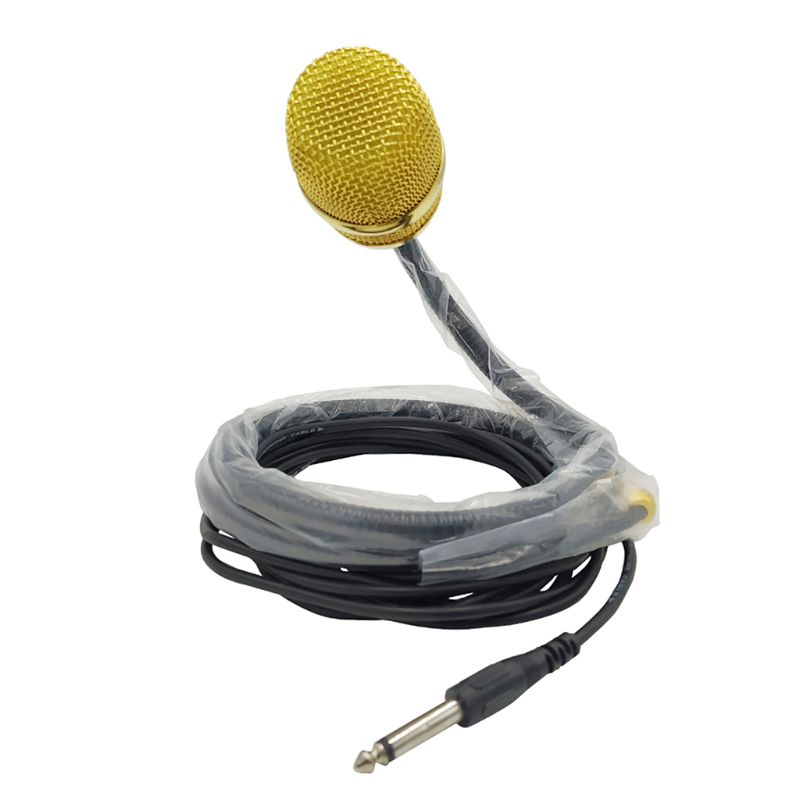 1 PC Wired Gooseneck Musical Instrument Hands Microphone For Guitar Harmonica Flute Saxophone Trumpet Neck Wear Hanging Mic