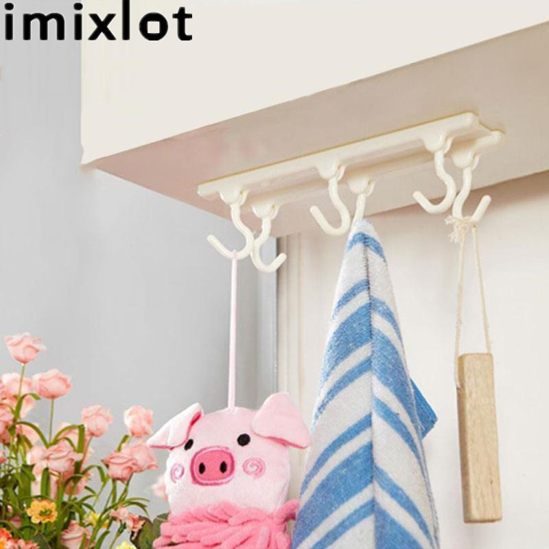 Kitchen Cabinets That Hang From The Ceiling: Imixlot Utensils Rack With 6 Hooks Holder Ceiling Wardrobe