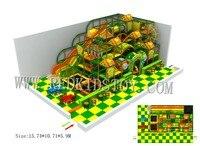 Design For Latvian Customer Four Floors Kids Indoor Playground With Large Slide HZ170928 B