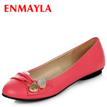 women fashion flat shoes large size 34-47 female ballet flats casual dating Metal Decorative