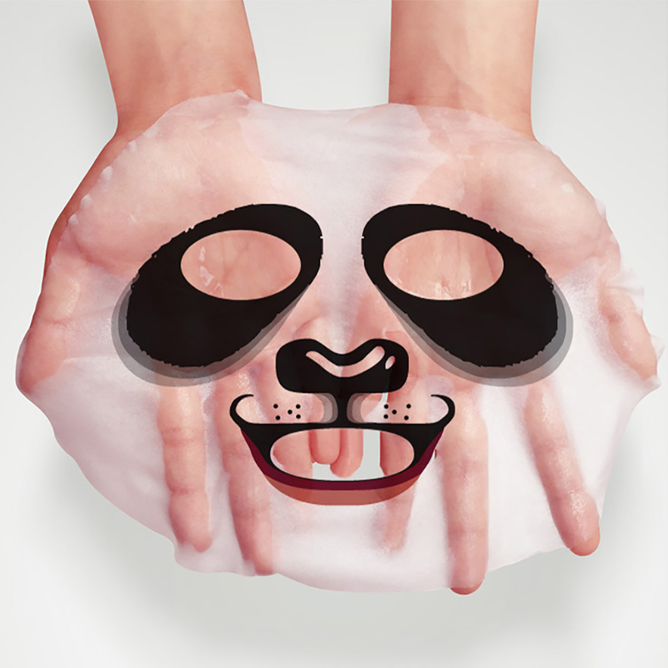 Bioaqua Panda Animal Face Mask Winter Moisturize Facial Masker Bibir Pink Triplemoisturizing Oil Control Soothe Skin Shrink Pores 1pcs In Treatments Masks From Beauty