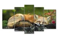 Di alta Qualità di Arte Della Parete Pittura A Pelo di Volpe Immagini Stampe Su Tela Animale L'immagine Decor Olio Per La Decorazione Domestica Stampa