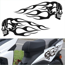 2pcs Motorcycle Gas Tank Flame Car Sticker Auto Decal Vehicle Styling Stickers Accessories Personality