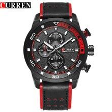 Curren reloj para hombre marca de lujo casual reloj de cuarzo reloj de los hombres relojes deportivos de cuero militar de los hombres reloj de pulsera relogio masculino