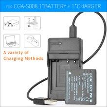 DMW-BCE10 CGA-S008E Аккумулятор + Зарядное Устройство Для Panasonic Lumix DMC-FX500 FX520 DMC-FX35 DMC-FX36 DMC-FS20 DMC-FS5 DMC-FS3 DMC-FX30 FX33