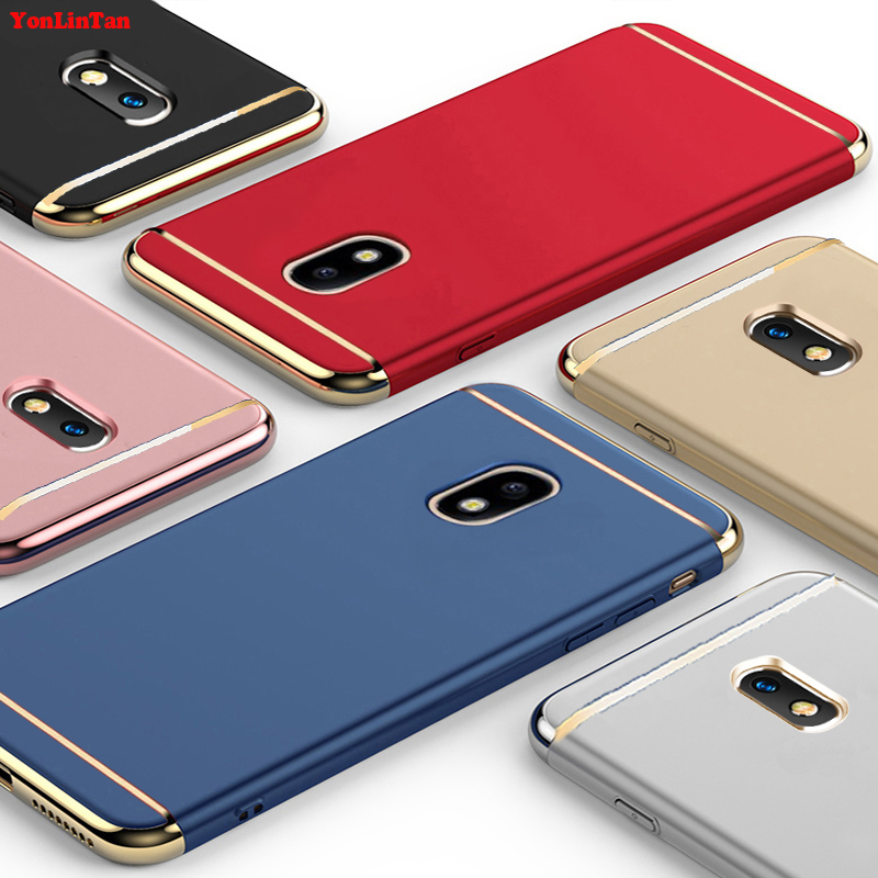 YonLinTan Coque,Case,cover For Samsung Galaxy j7 2017 pro j730 Original Luxury Plating 3in1 hard Plastic Phone Protective Cases