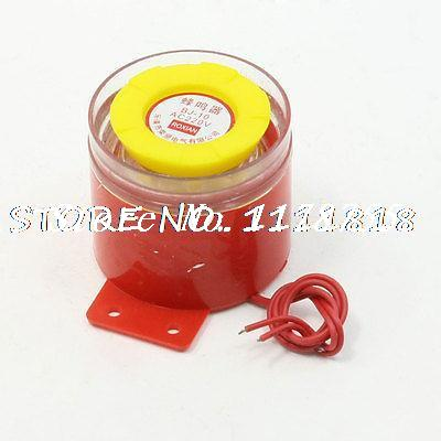 BJ-10 90dB AC 220V Voltage Siren Sound Emergency Buzzer Alarm dc 24v electronic red led flashing alarm buzzer siren 100db bj 3