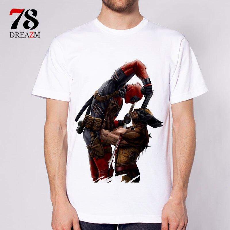 deadpool t shirt fashion dead pool anime t-shirt men tshirt clothing male S-3XL white top Tees