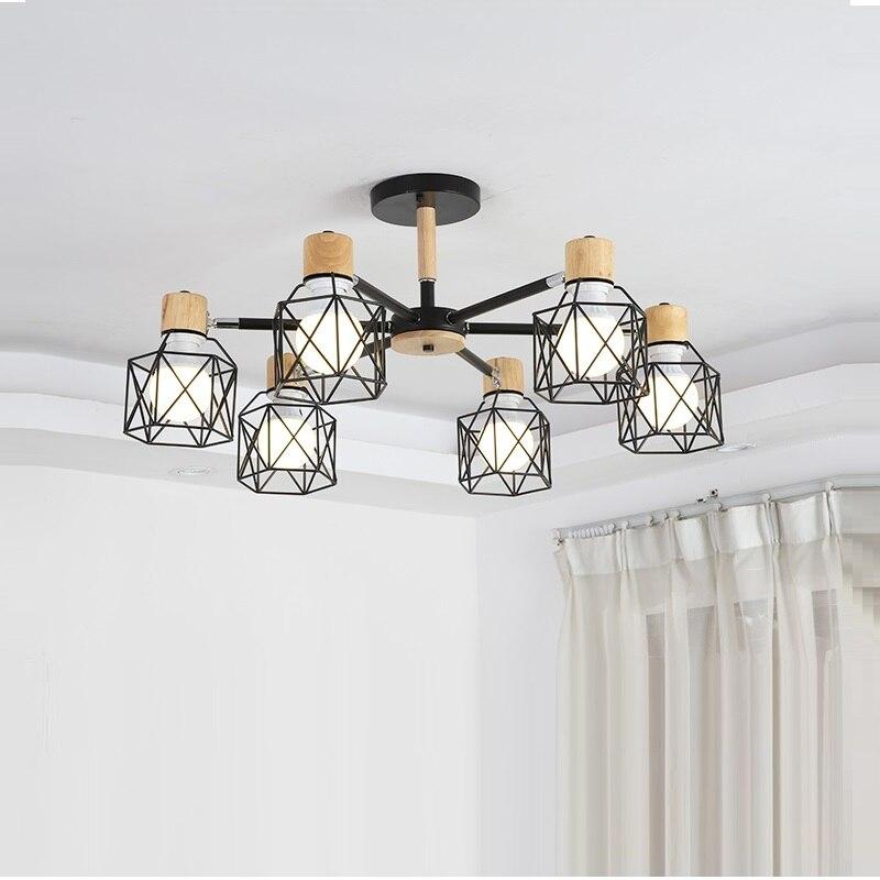 Lustre Vintage Loft araignée Lustre E27 réglable salon éclairage pour cuisine Restaurant Lustre luminaire lumières LED