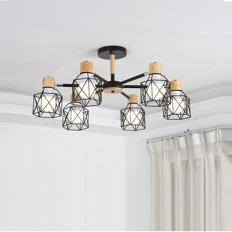 Vintage Chandelier Loft Spider Lustre  E27 Adjustable Livingroom Lighting For Kitchen Restaurant Chandelier Fixture Lights LED