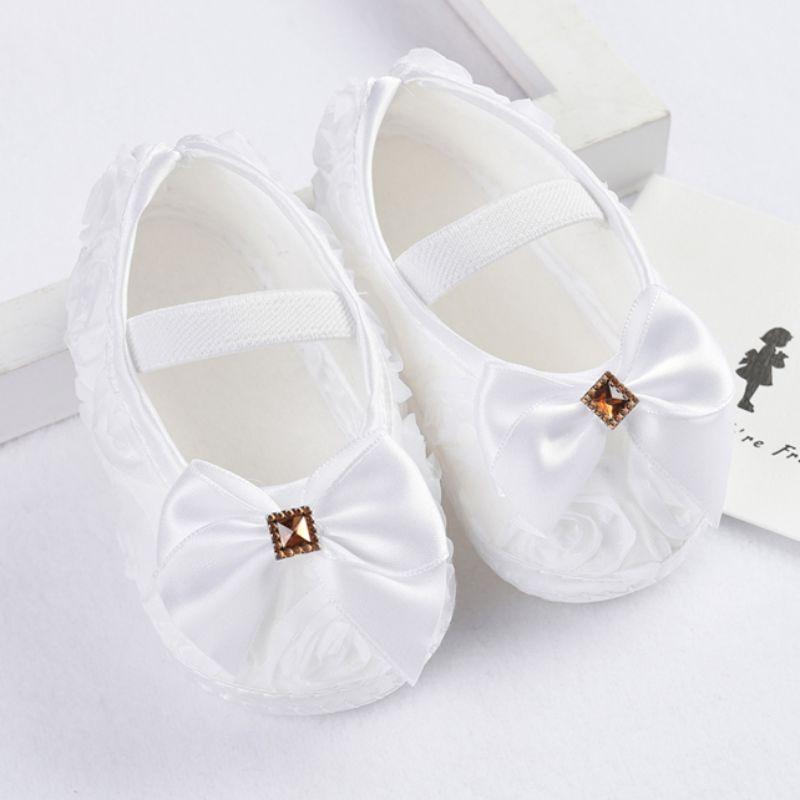 Flores Arco de las muchachas Zapatos Del Niño Del Bebé 11 cm 12 cm 13 cm Otoño N
