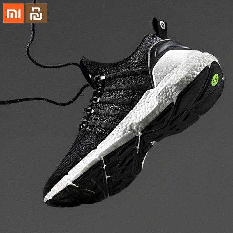 Xiaomi youpin 2 baskets sport intelligent Uni-moulage Techinique système de verrouillage de l'os de poisson élastique tricot Vamp semelle absorbant les chocs