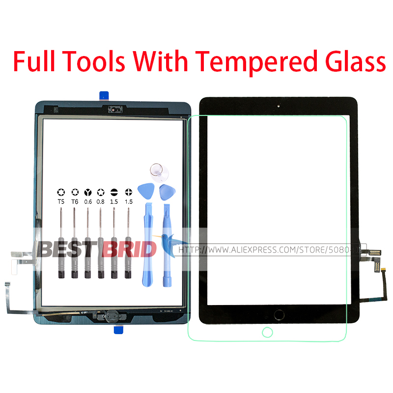 Tools A1474 Tempered-Glass Touch-Screen IPad Home-Button Well For 5-Air-1 A1474/A1475/A1476