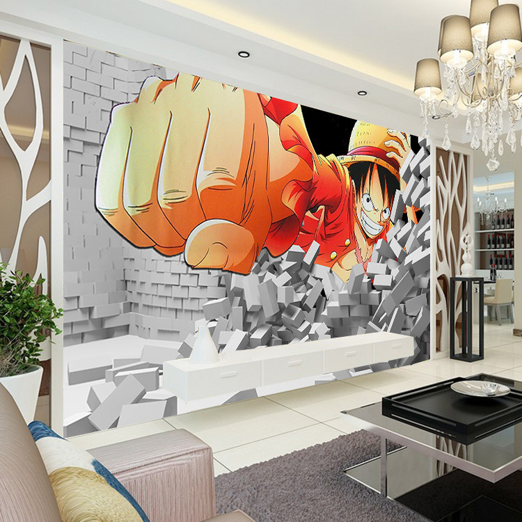 Japanese anime Wallpaper King of pirates Luffy Wall Mural Custom ...