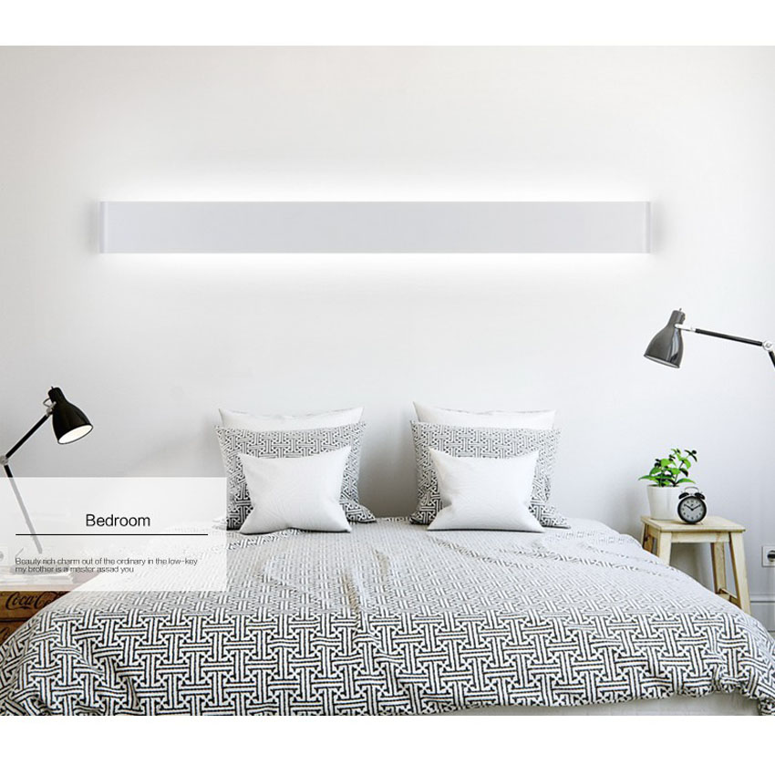 [DBF]Simple 6W 14W Aluminum Black/White Wall Lamp 2835 SMD LED Mirror Lamp for Restroom/Bathroom/Bedroom/Living Room AC 220V lson g 006 round 6w 300lm 6000k 30 2835 smd led white panel lamp white ac 85 265v