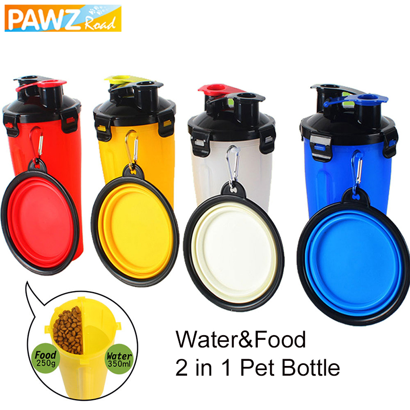 Aliexpress Com Buy 350ml Portable Dog Pet Water Bottle: Aliexpress.com : Buy Dog Bottle Drinking Food Bowl 2 In 1