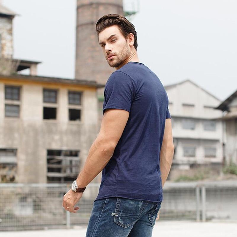 Majica s kapuljačom Muška Majica Odjeća Moda Puna boja O-izrez - Muška odjeća - Foto 2