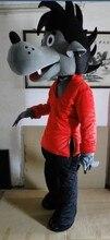 Талисман костюм, и так далее талисман в Большой плохой Волк Талисман Костюм Аниме шоу Бесплатная доставка