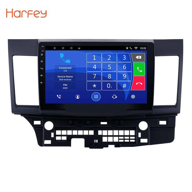 Harfey 10.1 Android 8.1 Voiture GPS Radio Lecteur pour 2008-2014 2015 Mitsubishi Lancer-ex avec Quad core ROM 16 gb Stéréo Multimédia