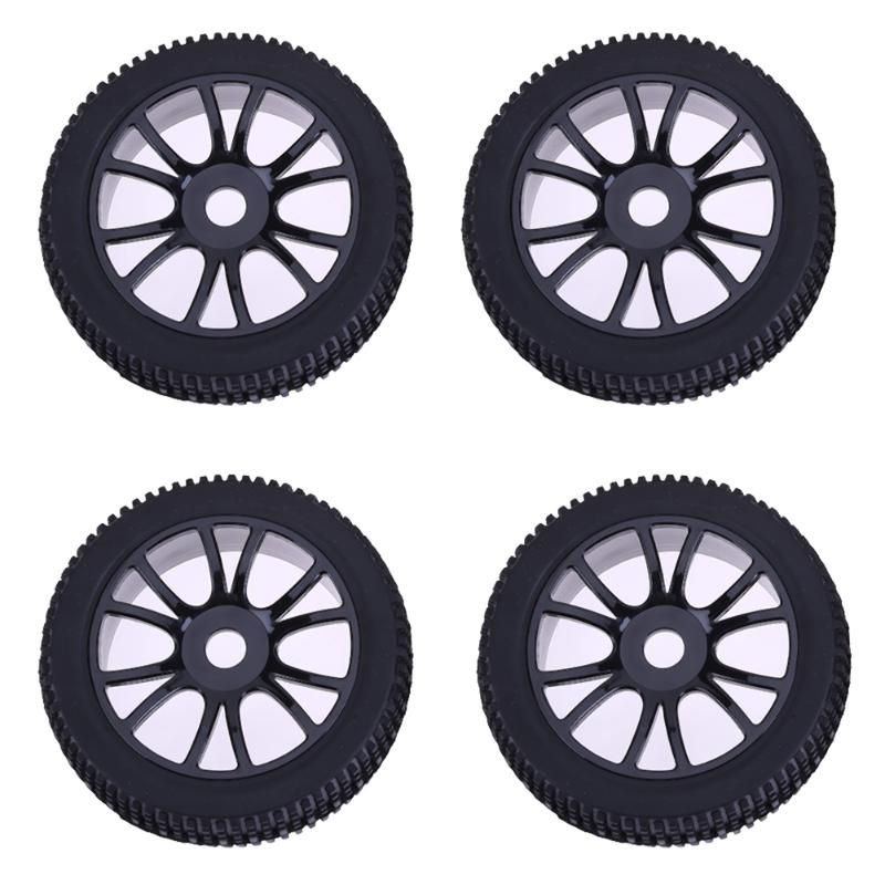 4Pcs 17mm Hexagon Combination Tires RC Car Repair Replacement Hub Wheel Rim Tyre for 1/8 Off-Road Remote Car Buggy стоимость