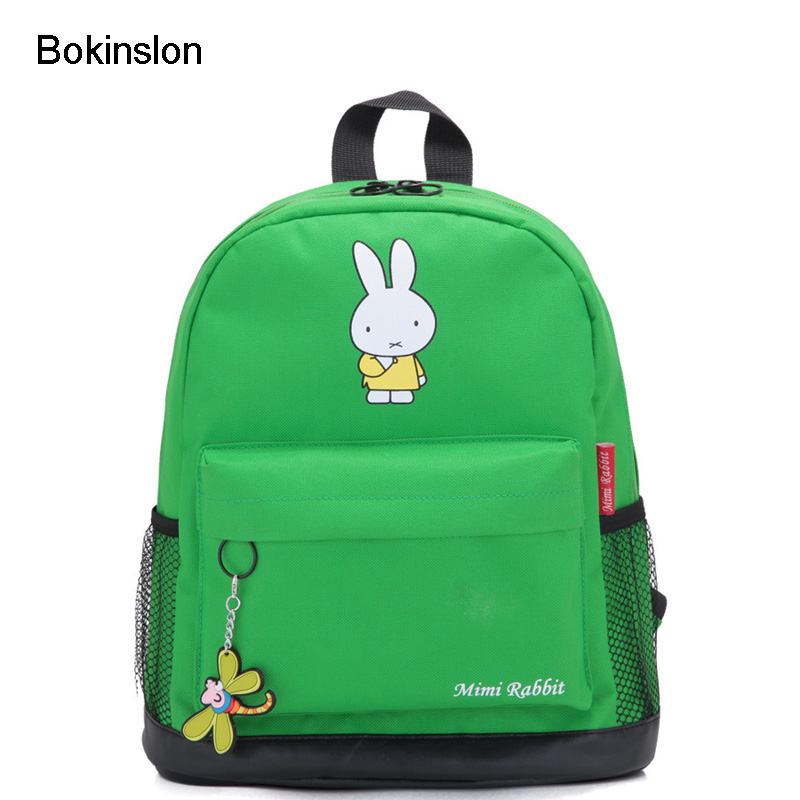 цены  Bokinslon Child Backpack Boy Fashion Rabbit Pattern Baby Backpack Cartoon All-Match Small Class Children Backpack For Girl Boy