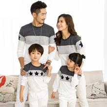 2019 Spring Family Clothing T-shirts Couples Clothing Dad Mom Kids Long sleeve Sweatshirt t-shirt family matching clothes 2-10 y