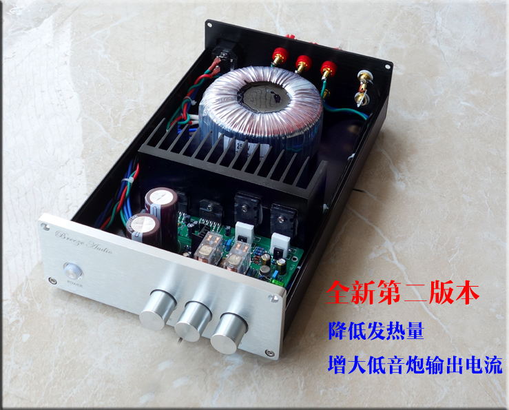 Upgraded version NEW amplifier BA1 HiFi LM3886 + 2SC5200 2SA1943 2.1 channel 68W *2 + 180W*1 Subwoofer Power Amplifier 2sa1943 2sc5200