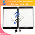 LL TRADER New Free shipping For iPad Mini Touch Screen Panel Front Glass Digitizer Assembly with IC Connector Black +Tools