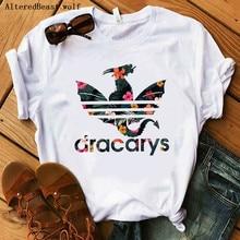 Женская футболка с дракарями, женские топы с драконом, Harajuku khaleesi Camisetas Daenery Dragon Got, женская летняя одежда