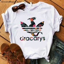 Women Dracarys T-Shirt Female Mother of Dragon Tops Tee Harajuku khaleesi Camise