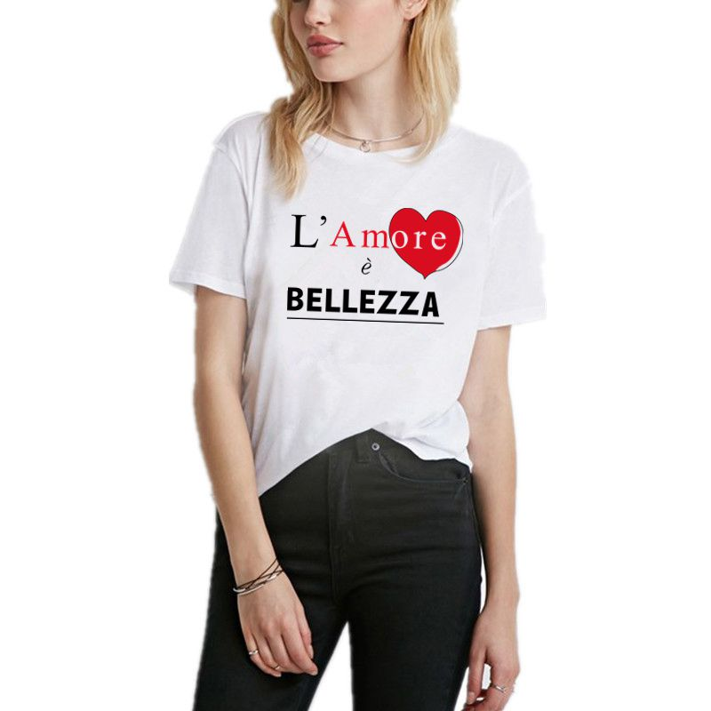Women T Shirts High Quality Letter Design Short Sleeve Casual Tops Fashion Tshirt Femme Plus Size