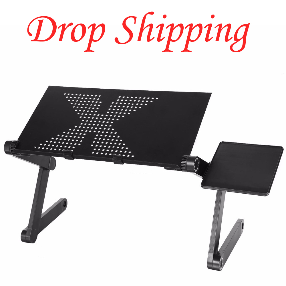Drop Shipping Practical Portable Adjustable Foldable Laptop Notebook Folding Desk Table Vented Stand Bed Tray for Bed Couch Lawn