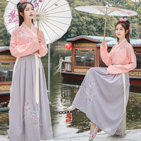 Traditional Women Tang Ancient Chinese Costume Hanfu Princess Clothes Dynasty Chinese Hanfu Dress Folk Dancer Show Wear DNV10731