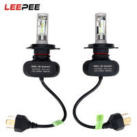 LEEPEE 2pcs H4 HB2 9003 Car Styling Super Bright Fog Light Light Source LED Car Headlight