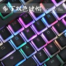 PBT Supporto Budino Chiave Cappellini Con Keycap Doubleshot Retroilluminata Cherry MX Keycap Set ANSI ISO Cappellini Per Interruttori MX Meccanica tastiera