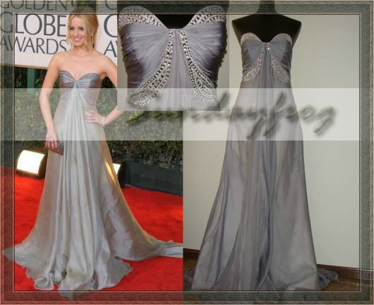 Strapless Sweetheart Silver Dress
