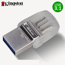 Kingston unidad Flash USB para teléfono inteligente, Memoria USB 3,0 de 64GB, 32gb, micro cle Memoria Flash usb, 64gb