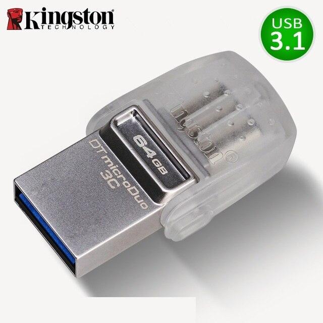 キングストンusbフラッシュドライブ64ギガバイトペンドライブメモリusb 3.0メモリア32ギガバイトusbスティックマイクロcle usbフラッシュディスク64ギガバイト用タイプ cスマートフォン