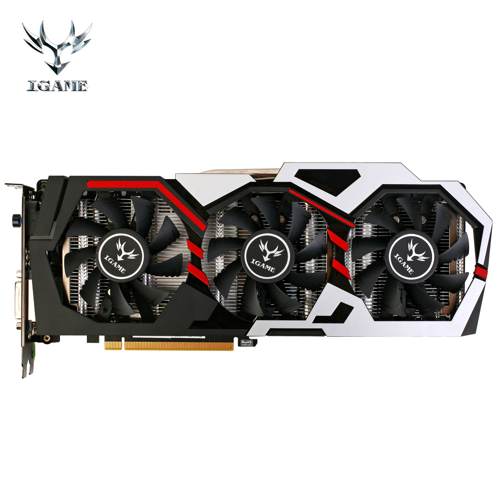 Colorful NVIDIA GeForce iGame GTX1070 GPU 8GB GDDR5 256bit PCI-EX16 3.0 VR GTX 1070 Gaming Video Graphics Card DVI+HDMI 3 Fans