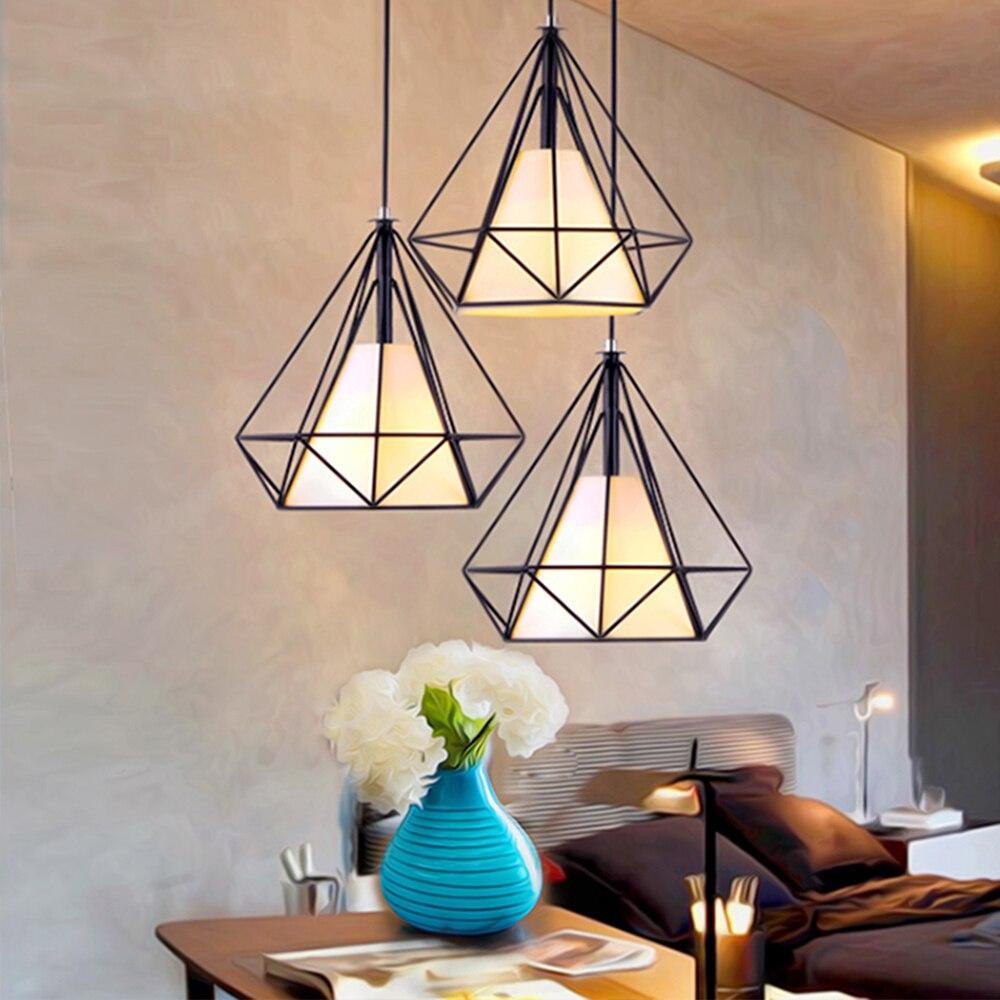 где купить LED pendant light 38CM Nordic Europe retro style dinning lamp dinning room living room toggery clothing shop bar counter 1 Heads по лучшей цене