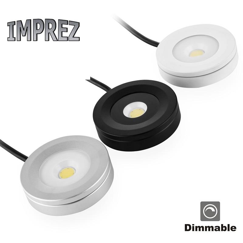 Led Under Cabinet Surface Mounted Light: Waterproof LED Kitchen Under Cabinet Light LED Puck Light