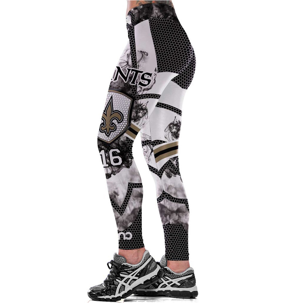 Pants Leggings Saints Football-Team Running Tight Sport Workout Fitness Unisex Gym Yoga