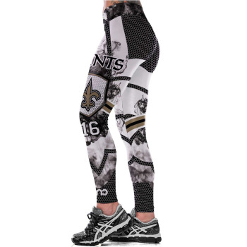 Unisex Football Team Saints 16 Print Tight Pants Workout Gym Training Running Yoga Sport Fitness Exercise Leggings Dropshipping
