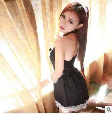 HOT Sexy Lingerie Cosplay Erotic Apron Maid Sexy Costume Babydoll Dress Women Lace Miniskirt Outfit 3