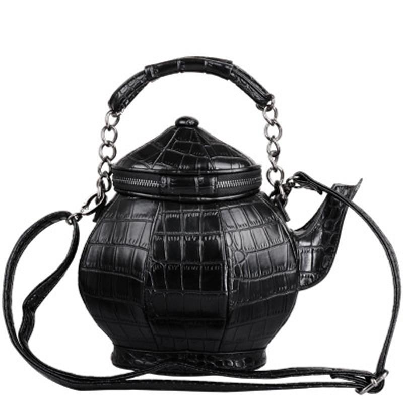 2019 new kettle Messenger bag Unisex Hard Cool Personality Satchel Korean Female Male Single Shoulder Handbag BagTeapot bag