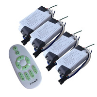 1X Hight quality 8 12W 2.4G constant current double color led driver with 2.4G led remote controller free shipping