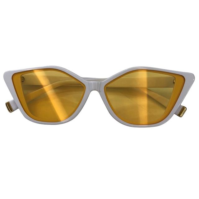 2019 New Sunglasses Women Brand Designer Retro Colorful Fashion Cateye Sun Glasses Women UV400